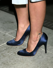 Actress Christina Ricci added some ink with this small portrait tattoo on her ankle.