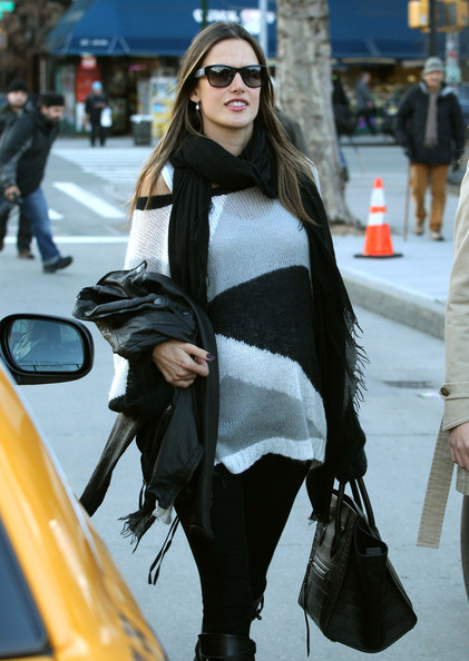 More Pics of Alessandra Ambrosio Solid Scarf (1 of 16) - Alessandra Ambrosio Lookbook - StyleBistro