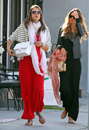 Alessandra looked ultra-classy with her quilted Chanel bag while out in Hollywood.