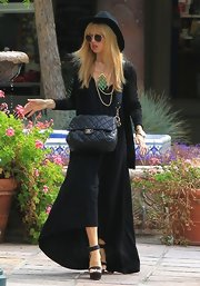 Rachel Zoe's black high-low maxi dress was a total fashion staple for the fashion icon.