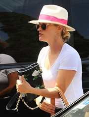 Reese Witherspoon stepped out in Los Angeles carrying a cute floral shoulder bag by Draper James.