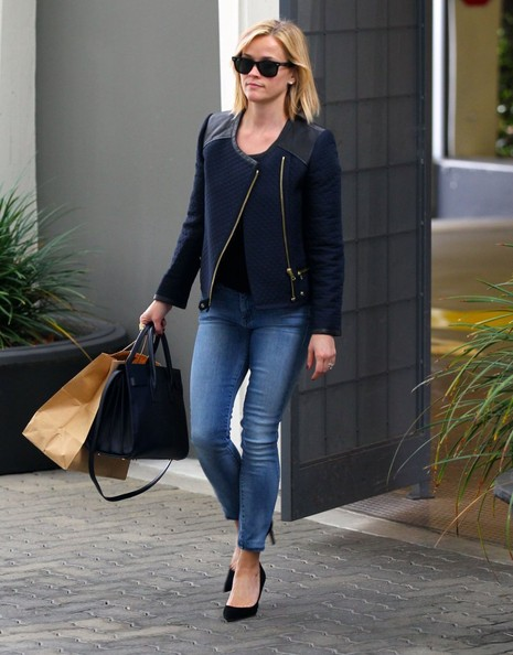 Reese Witherspoon Takes a Meeting in Beverly Hills