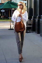 "Reese was out and about in LA wearing ""Inez"" low-rise slim fit chinos."