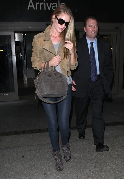 More Pics of Rosie Huntington-Whiteley Leather Jacket (5 of 8) - Rosie Huntington-Whiteley Lookbook - StyleBistro