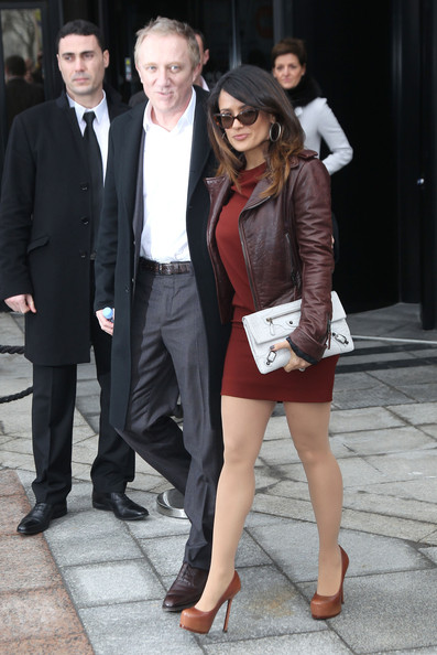 Salma Hayek Leather Jacket