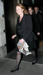 Sarah Ferguson topped off her ensemble with black flats.