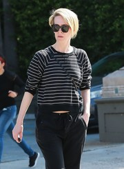 Sarah Paulson was spotted out in Beverly Hills sporting a pair of modern angular shades.