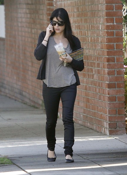 While out and about LA, Selma opted for casual black flats.