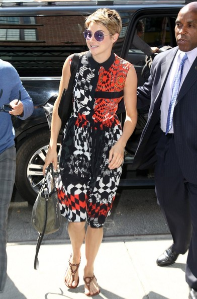 Shailene Woodley Print Dress
