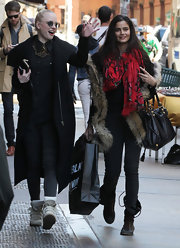 Shermine Shahrivar wore a pair of lace-up boots while out in New York.