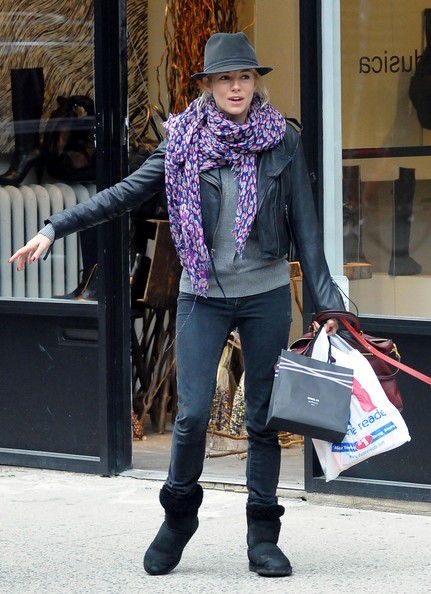 Sienna Miller Patterned Scarf