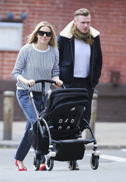 Sienna Miller Takes Marlowe for a Walk