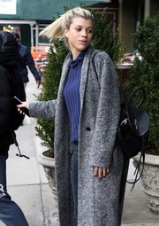 Sofia Richie accessorized with a chic leather backpack while out in New York City.