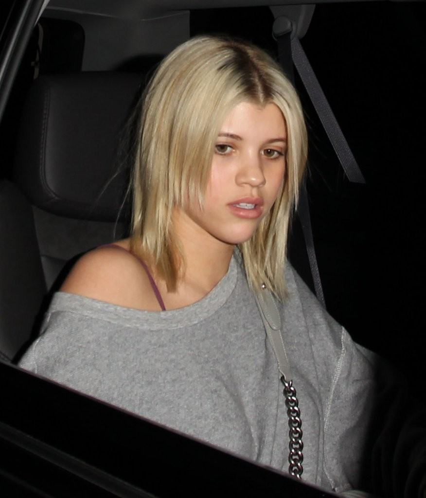 sofia richie sported a punky layered cut while dining out at the nice guy