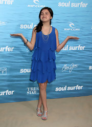 Bailee Madison looked great in a flutter dress at the 'Soul Surfer' L.A. premiere.