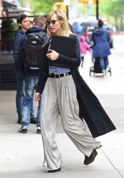 Suki Waterhouse Wide Leg Pants