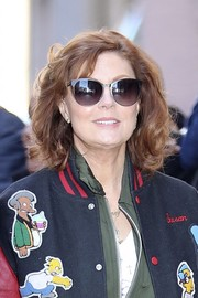 Susan Sarandon styled her hair into a curled-out bob for her appearance on 'The View.'