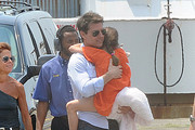 Suri Cruise and Tom Cruise Photo