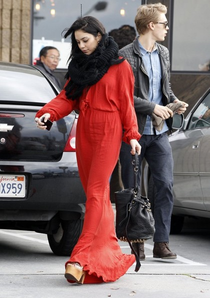 Vanessa Hudgens Goes To Church With Her Boyfriend