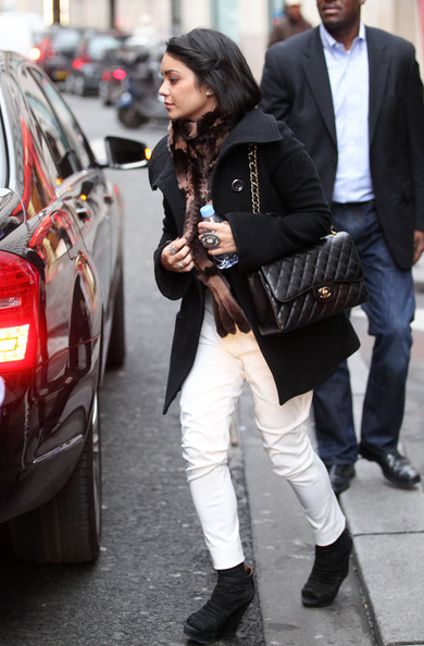 Vanessa Hudgens Quilted Leather Bag