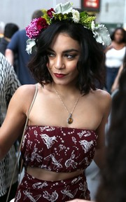 Vanessa Hudgens looked romantic wearing this flower headband while out and about in New York City.