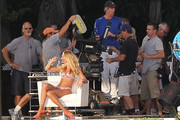 Candice Swanepoel and Michael Bay Photo
