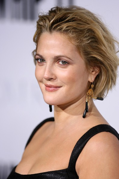 More Pics of Drew Barrymore Messy Cut (5 of 38) - Drew Barrymore Lookbook - StyleBistro