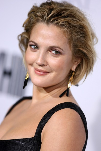 More Pics of Drew Barrymore Messy Cut (4 of 38) - Drew Barrymore Lookbook - StyleBistro