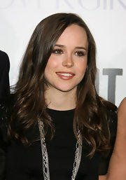 Ellen Page showed off her long curls at the premiere of 'Whip It'.
