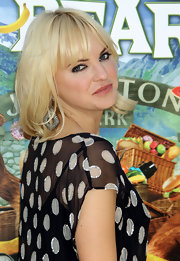 Anna Faris attended the 'Yogi Bear 3-D' premiere wearing decadent diamond earrings.