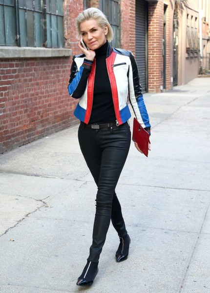 Yolanda Hadid Leather Jacket