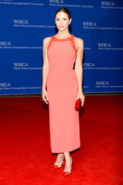 Katharine McPhee went for simple sophistication in a coral Paule Ka dress with a beaded neckline during the White House Correspondents' Association Dinner.