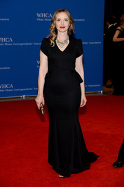Julie Delpy kept it classic in a simple black evening dress during the White House Correspondents' Association Dinner.