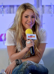 Shakira showed off a sparkly statement ring, among other bling, during the Wango Tango event.