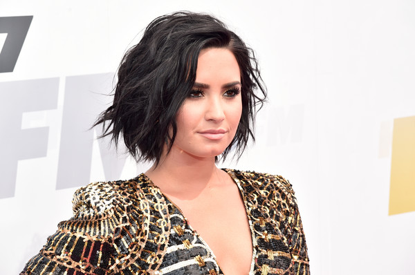 More Pics of Demi Lovato Statement Ring (1 of 13) - Decorative Rings Lookbook - StyleBistro [wango tango,red carpet,hair,face,hairstyle,eyebrow,beauty,skin,fashion,chin,lip,shoulder,demi lovato,carson,california,stubhub center,kiis fm]