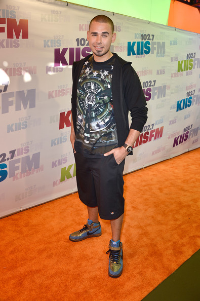 A graphic tee topped off DJ Afrojack's look at Wango Tango.