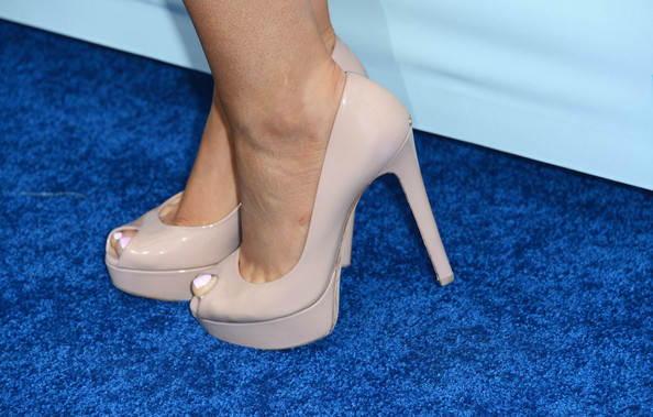 More Pics of Ariana Grande Peep Toe Pumps (2 of 4) - Ariana Grande Lookbook - StyleBistro
