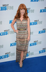 Kathy Griffin channeled the '70s in this print wrap dress for Wango Tango.