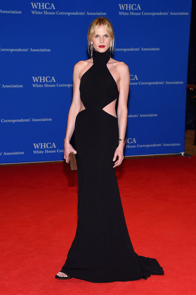 Anne V brought a heavy dose of sexiness to the White House Correspondents' Association Dinner with this black cutout Kaufmanfranco gown.