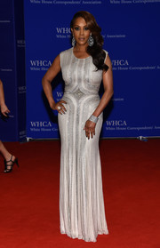 Vivica A. Fox looked radiant in a beaded silver gown during the White House Correspondents' Association Dinner.