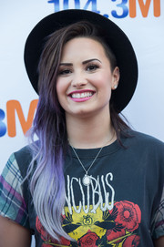Demi Lovato channeled Boy George with her colorful locks, complete with a black hat, during 104.3 MY FM's My Big Night Out.