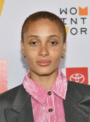 Adwoa Aboah attended the 10th Anniversary Women in the World Summit wearing her hair in a buzzcut.