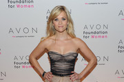 Reese Witherspoon Wears a Jason Wu Strapless Dress
