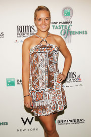 Sabine Lisicki's print dress looked wildly stylish on the red carpet.