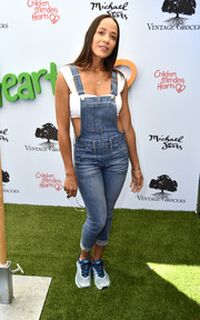 Dania Ramirez kept it super casual in denim overalls and a crop-top at the Empathy Rocks fundraiser.