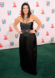 The beading on Laura Pausini's gown for the 10th annual Latin Grammy awards was the perfect amount of shine for her look.