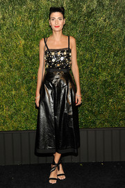 Giovanna Battaglia sparkled in an embellished black cami at the Chanel Tribeca Film Festival Artists Dinner.