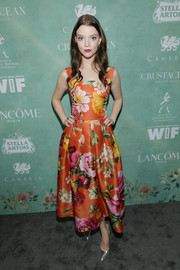 Anya Taylor-Joy donned a Dolce & Gabbana frock featuring a bold floral print for the Women in Film pre-Oscar party.