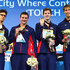 Anthony Ervin, Ryan Lochte, James Feigen and Matthew Grevers pose with their Gold medals after winning the Men's 4x100m Final on day one of the 11th FINA Short Course World Championships at the Sinan Erdem Dome on December 12, 2012 in Istanbul, Turkey.