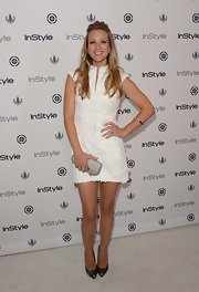 A.J. stuck to a summer classic: the white dress, for her look at InStyle's Summer Soiree.